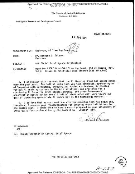 CIAはスパイ活動の一部をAIに置き換えることを視野に入れている - GIGAZINE