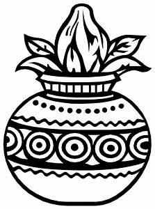 Hindu clipart kalash - Pencil and in color hindu clipart ...