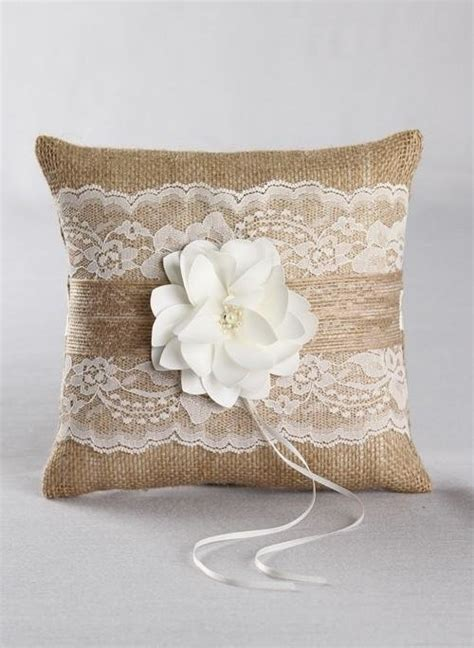 rustic garden wedding ring pillow ring pillows