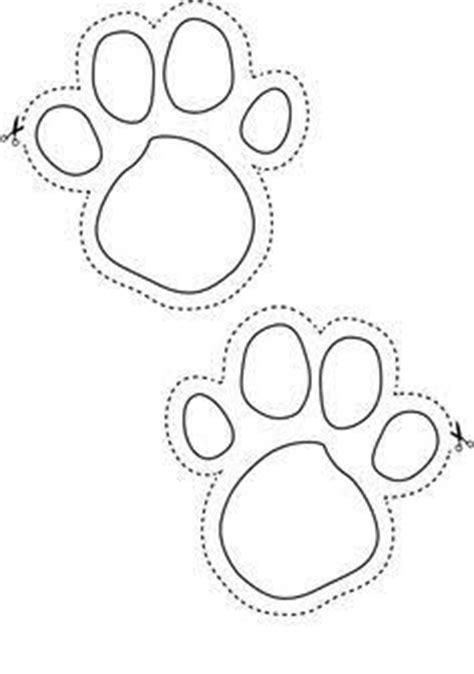 easter bunny footprint large  cut colour