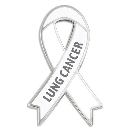 what color ribbon is for lung cancer awareness ribbon pin lung cancer pinmart