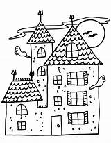 Coloring Pages Haunted Printable sketch template