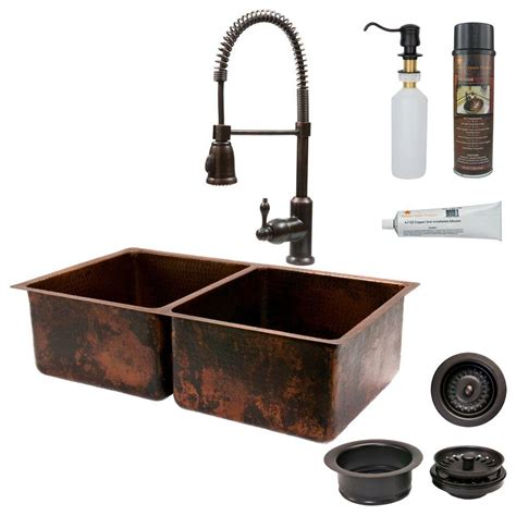 kitchen sink copper mr direct all in one undermount copper 33 in bowl 2641