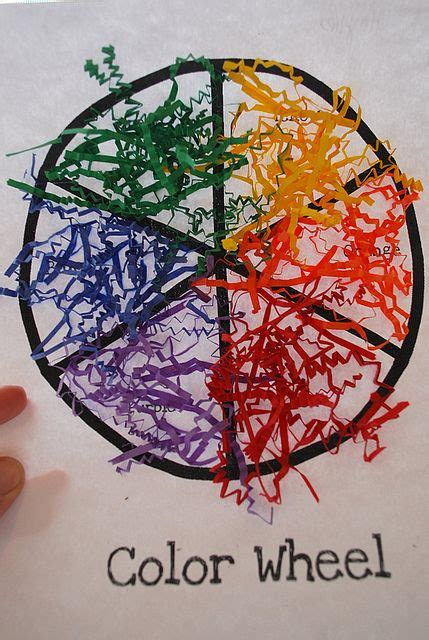 color wheel craft  images shape activities