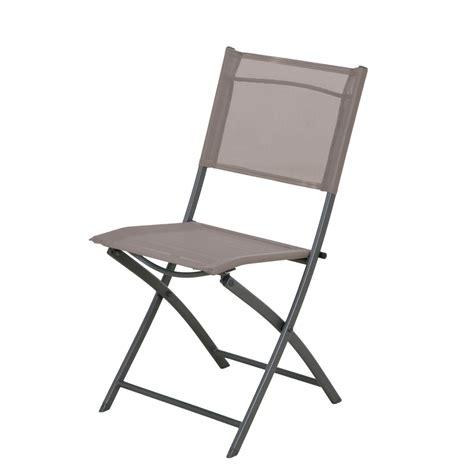 chaise acier chaise de jardin en acier denver taupe leroy merlin