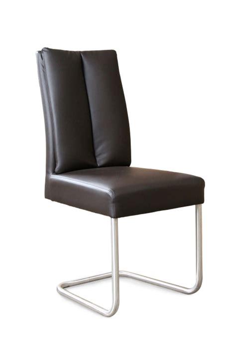 chaise à piètement luge jumbo chaise à piètement luge timmy 2 inox marron sb meubles