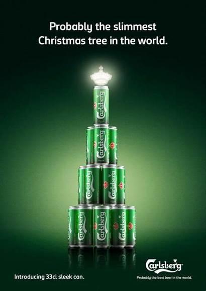 Christmas Ads Carlsberg Creative Tree Advertising Beer