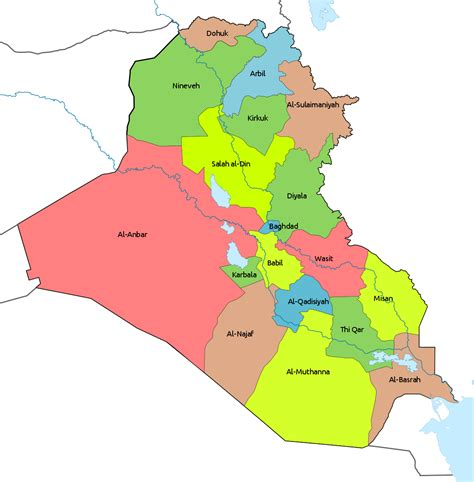 governorates  iraq wikipedia
