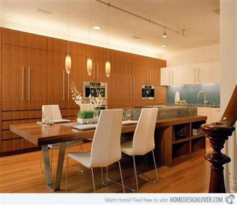 13 best Kitchen Islands with attached tables images on