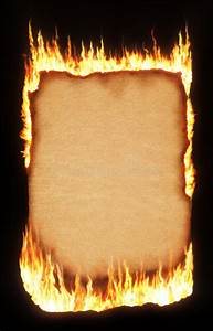 Ancient Scroll Designs Burning Paper Stock Image Image Of Banner Curl Damage