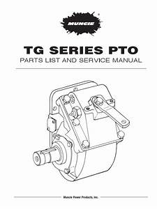 Manual De Partes Pto Muncie Tg Series