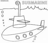 Submarine Coloring Pages Template Yellow Sketch Navy Popular sketch template