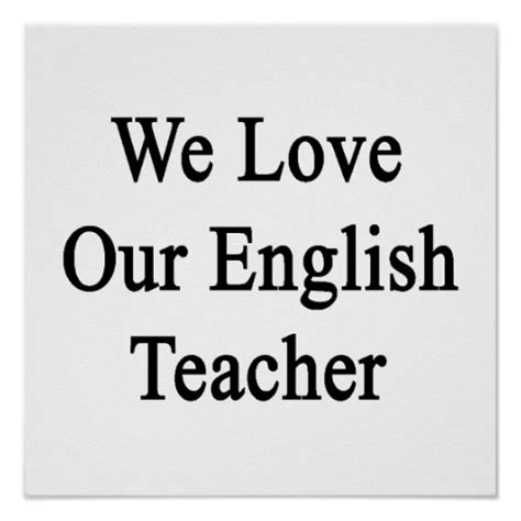 English Teacher Posters, English Teacher Wall Art