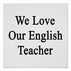 English Teacher Posters, English Teacher Wall Art