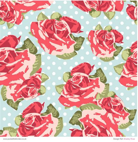 Patterned Paper Shabby Rose  Great Quality Patterned