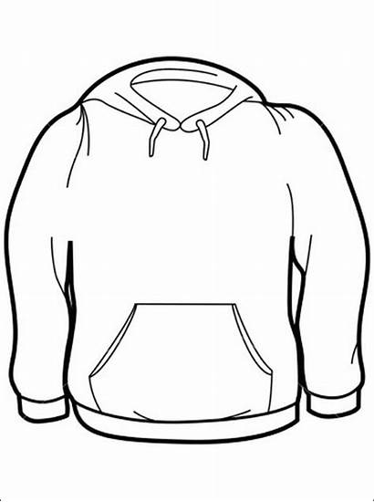 Coloring Clothes Pages Winter Shirt Preschool Sweater