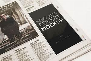 6 newspaper advert mockups on behance for Behance mockups