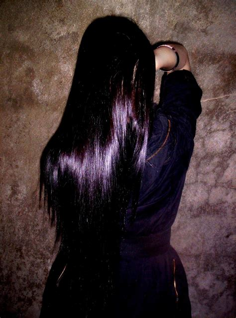 Brown Hair Poem by Fairfarren Poem Black With Purple Tint This Color