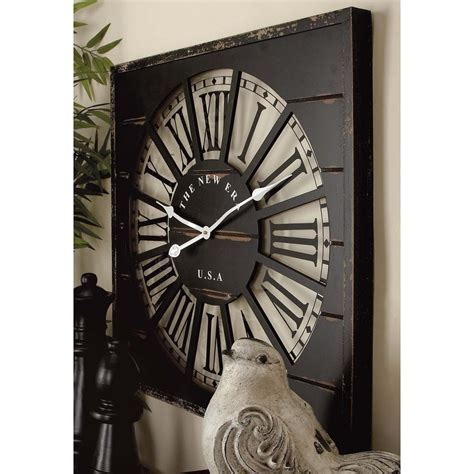 "27 in. x 27 in. ""The New Era USA"" Square Wall Clock 52134"