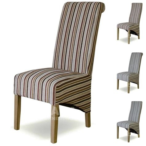 Dining Chair Upholstery Material by Fabric Striped Dining Chairs Solid Oak High Quality Dining