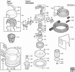 Fein Turbo-II 92025236020 Parts - Vacuum Cleaner
