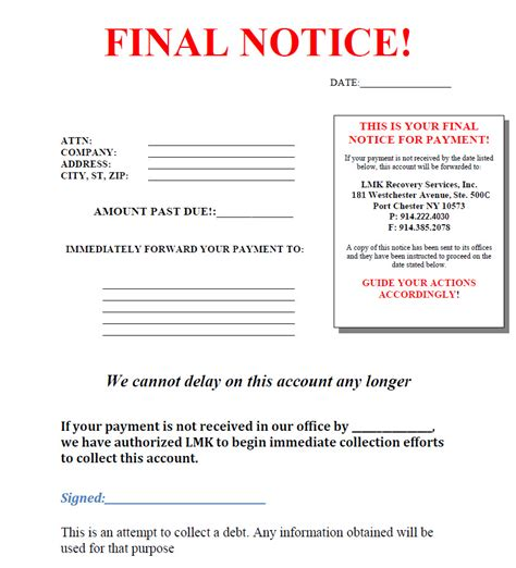 debt collection letter collection letter cover letter sles cover