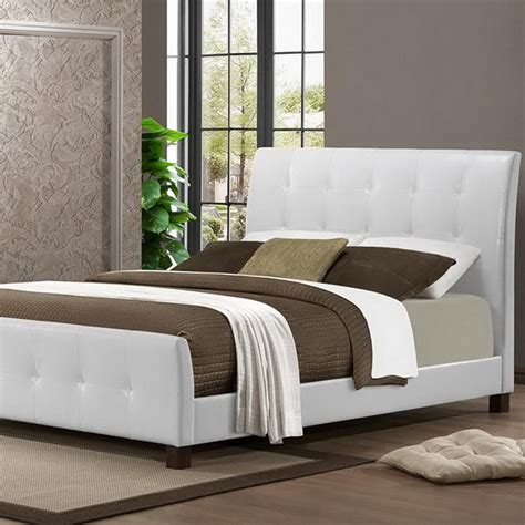 south shore step  full size platform bed  pure white