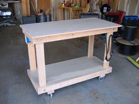 roll up table plans rolling shop workbench by dkrice lumberjocks com