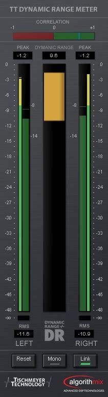 tt dynamic range meter kvr tt dynamic range meter by pleasurize foundation analyser monitor vst plugin