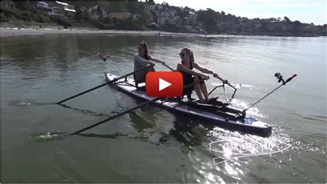 Sculling Boat Positions by Sup Rower Setup As A Double Position Sculling Boat