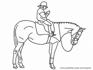Ausmalbilder, Lustige, Pferde