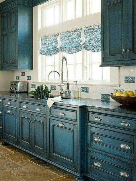teal distressed kitchen cabinets kitchen design home