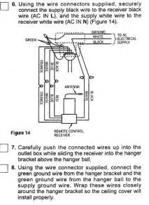emerson ceiling fan wiring question electrical
