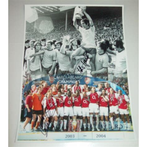 Charlie George & Ray Parlour Dual Signed 12x16 Arsenal ...