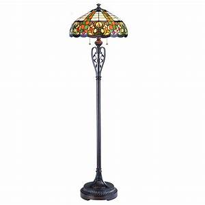 Tryphena tiffany style floor lamp by lite source ls for Tryphena tiffany floor lamp