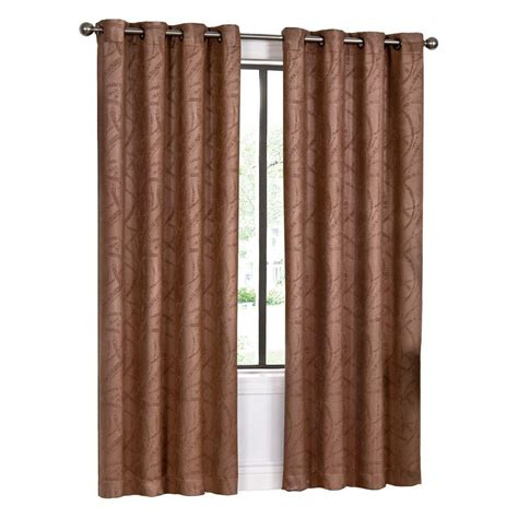 spectrum burgundy curtain grommet panel 84 in length