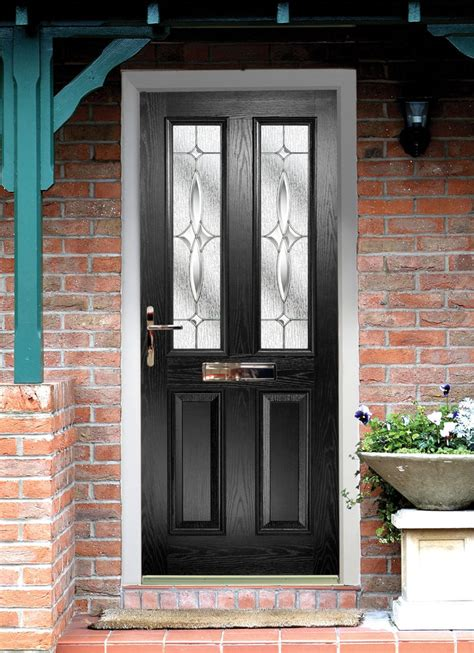 for front door black composite door made to measure quality black