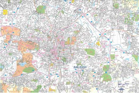 themapstore raleigh durham chapel hill nc street map