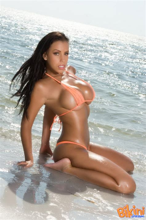 Sultry Bianca Sheds Her Bikini Top To Tease With Her Wet Tanned ...