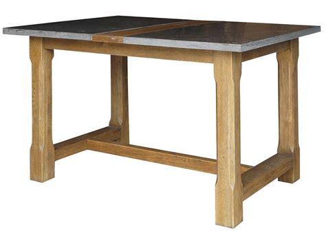 farmhouse pub table with bluestone top by four