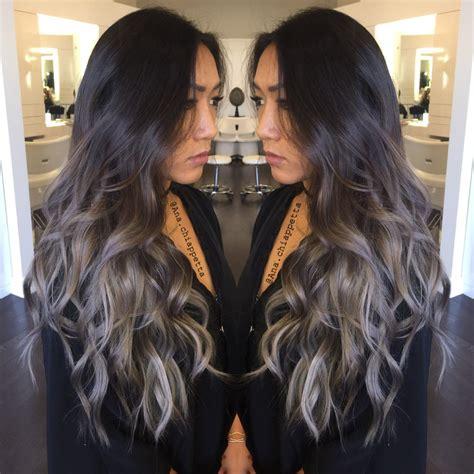 Silver Hair Grey Hair Balayage Ombré Sombre Blue Grey