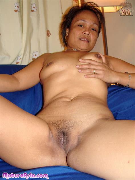 Tiny mature Asian Filipino granny getting naked and sucking cock