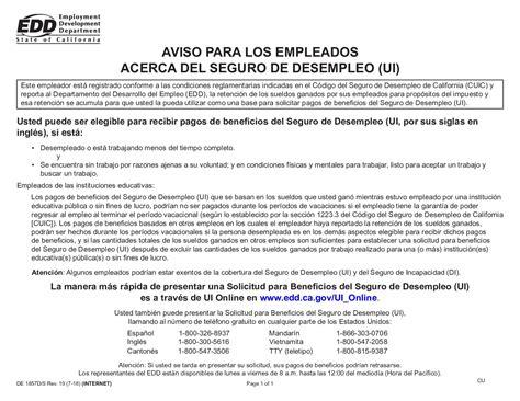 California unemployment insurance code §§ 301, 1326 et seq. Free California California Unemployment Insurance Spanish ...
