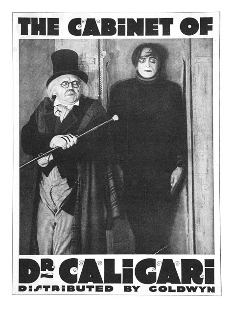 the cabinet of doctor caligari 1920 poster for the cabinet of dr caligari das kabinett des