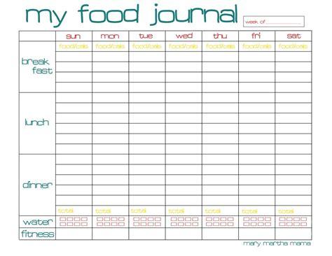 food journal printable healthy mama week  mary