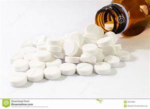 Capsules Spilled From Pill Bottle Stock Photo ...