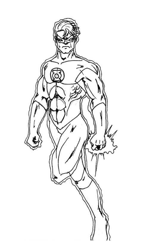 green lantern coloring pages    print