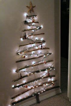 wall christmas tree  pinterest