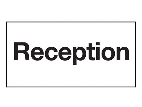 Buy Reception Sign   Free Delivery