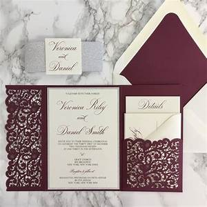 invitation pockets choice image invitation sample and With laser cut wedding invitations near me